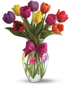 Teleflora's Spring Tulips Bouquet Local and Nationwide Guaranteed Delivery - GoFlorist.com