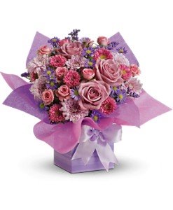 Teleflora's Perfectly Purple Present in Manassas VA, Flower Gallery Of Virginia