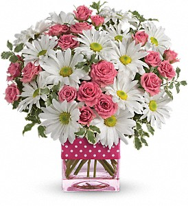 Teleflora's Polka Dots and Posies in Naperville IL, Trudy's Flowers