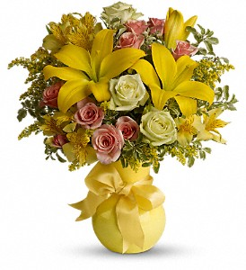 Teleflora's Sunny Smiles in Rowland Heights CA, Charming Flowers