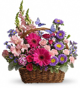 Country Basket Blooms in Woodbury NJ, C. J. Sanderson & Son Florist
