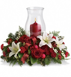 Holiday Glow Centerpiece in Newbury Park CA, Angela's Florist