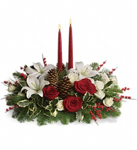 Christmas Wishes Centerpiece in Vancouver BC, Davie Flowers