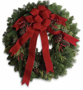 Classic Holiday Wreath in Oklahoma City OK, Array of Flowers & Gifts