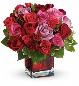 Madly in Love Bouquet with Red Roses by Teleflora in San Francisco CA, Fillmore Florist