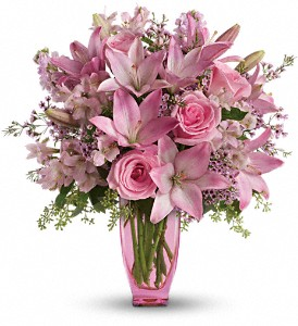 Waxflower Flowers on Teleflora S Pink Pink Bouquet With Pink Roses T018 2a Delivered In El