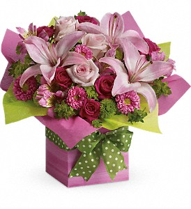 Teleflora's Pretty Pink Present in La Grange IL, Carriage Flowers