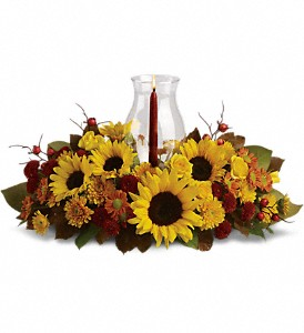 Sunflower Centerpiece in Sunnyvale TX, The Wild Orchid Floral Design & Gifts