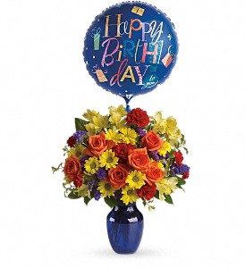 Fly Away Birthday Bouquet in Largo FL, Rose Garden Flowers & Gifts, Inc