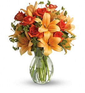 Fiery Lily and Rose in Ithaca NY, Flower Fashions By Haring