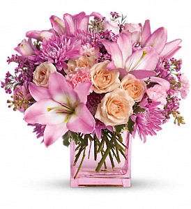 Teleflora's Possibly Pink in Dallas TX, Petals & Stems Florist