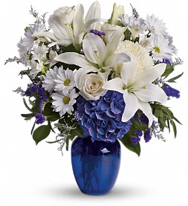Beautiful in Blue in Kissimmee FL, Golden Carriage Florist