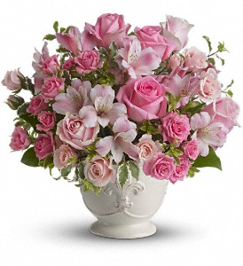 Teleflora's Pink Potpourri Bouquet with Roses in New York NY, Fellan Florists Floral Galleria