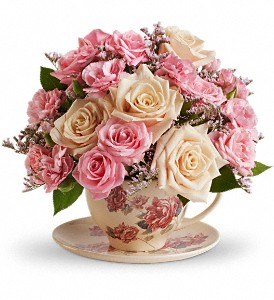 Teleflora's Victorian Teacup Bouquet in Springfield OH, Netts Floral Company and Greenhouse