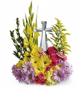 Teleflora's Crystal Cross Bouquet in Burleson TX, Flowers By Fran