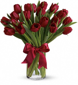 Radiantly Red Tulips in Palos Heights IL, Chalet Florist