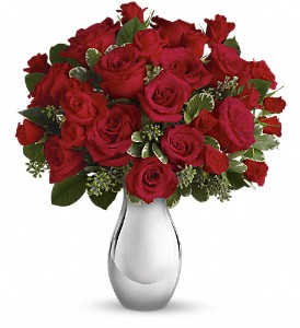Teleflora's True Romance Bouquet with Red Roses in Fort Worth TX, TCU Florist