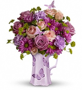 Teleflora's Butterfly Pitcher Bouquet in Metairie LA, Villere's Florist