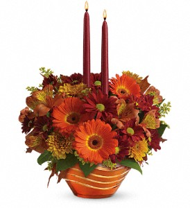 Teleflora's Autumn Artistry Centerpiece in Homer NY, Arnold's Florist & Greenhouses & Gifts