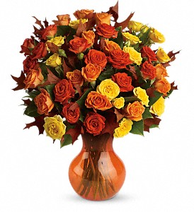 Teleflora's Fabulous Fall Roses in Indiana PA, Flower Boutique