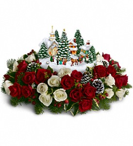 Thomas Kinkade's Old Fashioned Christmas in San Bruno CA, San Bruno Flower Fashions