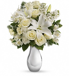 Teleflora's Shimmering White Bouquet in Bay City MI, Keit's Greenhouses & Floral