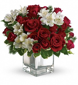 Teleflora's Christmas Blush Bouquet in Canton NC, Polly's Florist & Gifts