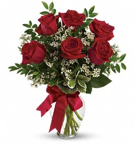 Thoughts of You Bouquet with Red Roses in Placentia CA, Expressions Florist