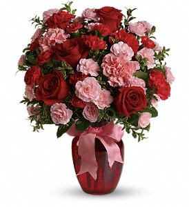 Dance with Me Bouquet with Red Roses in Drumheller AB, R & J Specialties Flower
