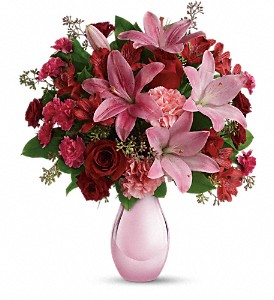 Teleflora's Roses and Pearls Bouquet in Pensacola FL, KellyCo Flowers & Gifts