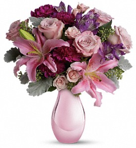 Enchanting Pinks by Teleflora in Metairie LA, Villere's Florist
