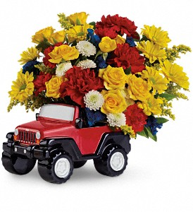 Jeep Wrangler King Of The Road by Teleflora in Appleton WI, Riverside Greenhouse
