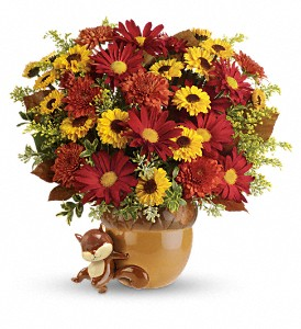Teleflora's Send a Hug Squirrel Away Bouquet in Yakima WA, The Blossom Shop