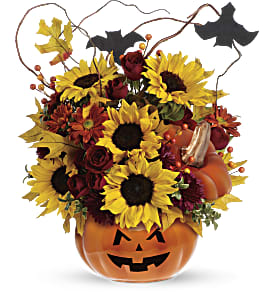 Teleflora's Trick & Treat Bouquet in Amherst NY, The Trillium's Courtyard Florist