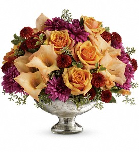 Teleflora's Elegant Traditions Centerpiece in Bakersfield CA, White Oaks Florist