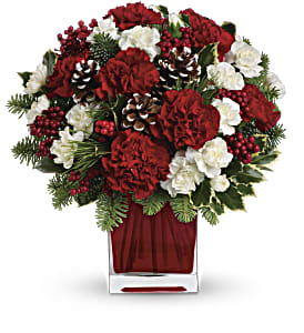 Make Merry by Teleflora in West Bend WI, Bits N Pieces Floral Ltd
