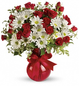 Red White And You Bouquet by Teleflora in Royersford PA, Three Peas In A Pod Florist