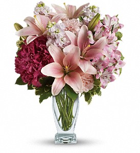 Teleflora's Blush Of Love Bouquet in Meadville PA, Cobblestone Cottage and Gardens LLC
