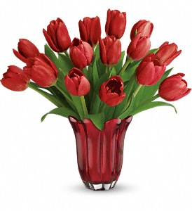 Teleflora's Kissed By Tulips Bouquet in New Milford PA, Forever Bouquets By Judy