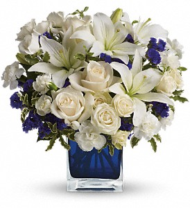 Teleflora's Sapphire Skies Bouquet in Hollywood FL, Al's Florist & Gifts