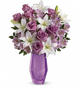 Teleflora's Lavender Beauty Bouquet in Cocoa FL, A Basket Of Love Florist