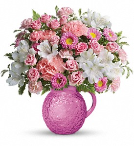 Teleflora's Pour On Pink Bouquet in Cocoa FL, A Basket Of Love Florist