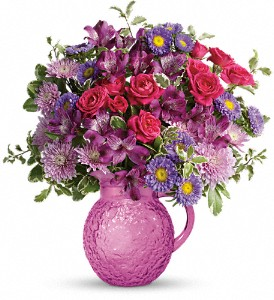 Teleflora's Pretty As A Pitcher Bouquet in Royersford PA, Three Peas In A Pod Florist