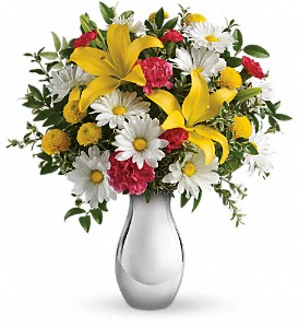 Just Tickled Bouquet by Teleflora in Madill OK, Flower Basket