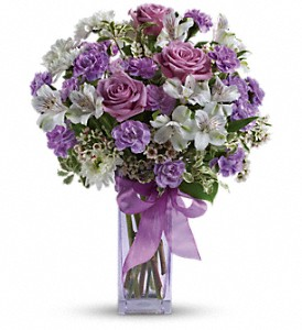 Teleflora's Lavender Laughter Bouquet in Canton NC, Polly's Florist & Gifts
