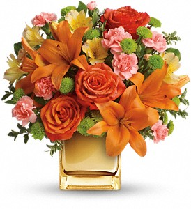 Teleflora's Tropical Punch Bouquet in Milford MA, Francis Flowers, Inc.