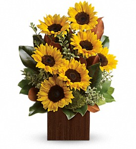 You're Golden Bouquet by Teleflora in Billerica MA, Candlelight & Roses Flowers & Gift Shop