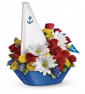 Teleflora's Anchors Aweigh Bouquet in Patchogue NY, Mayer's Flower Cottage
