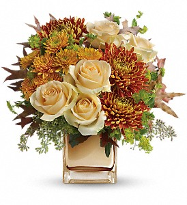 Teleflora's Autumn Romance Bouquet in Santa Monica CA, Edelweiss Flower Boutique