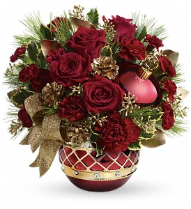 Teleflora's Jeweled Ornament Bouquet in Spring Lake Heights NJ, Wallflowers
